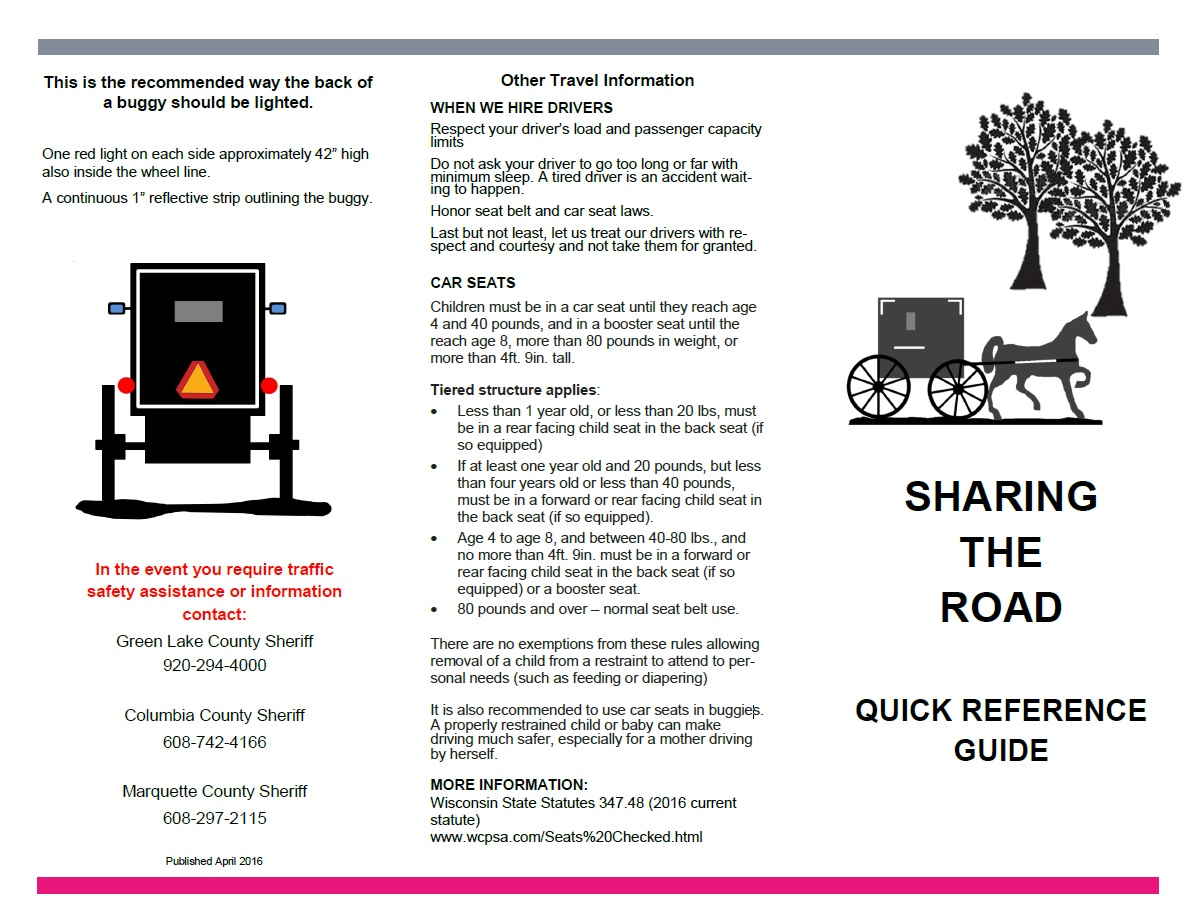 Sharing The Road Brochure Pg1