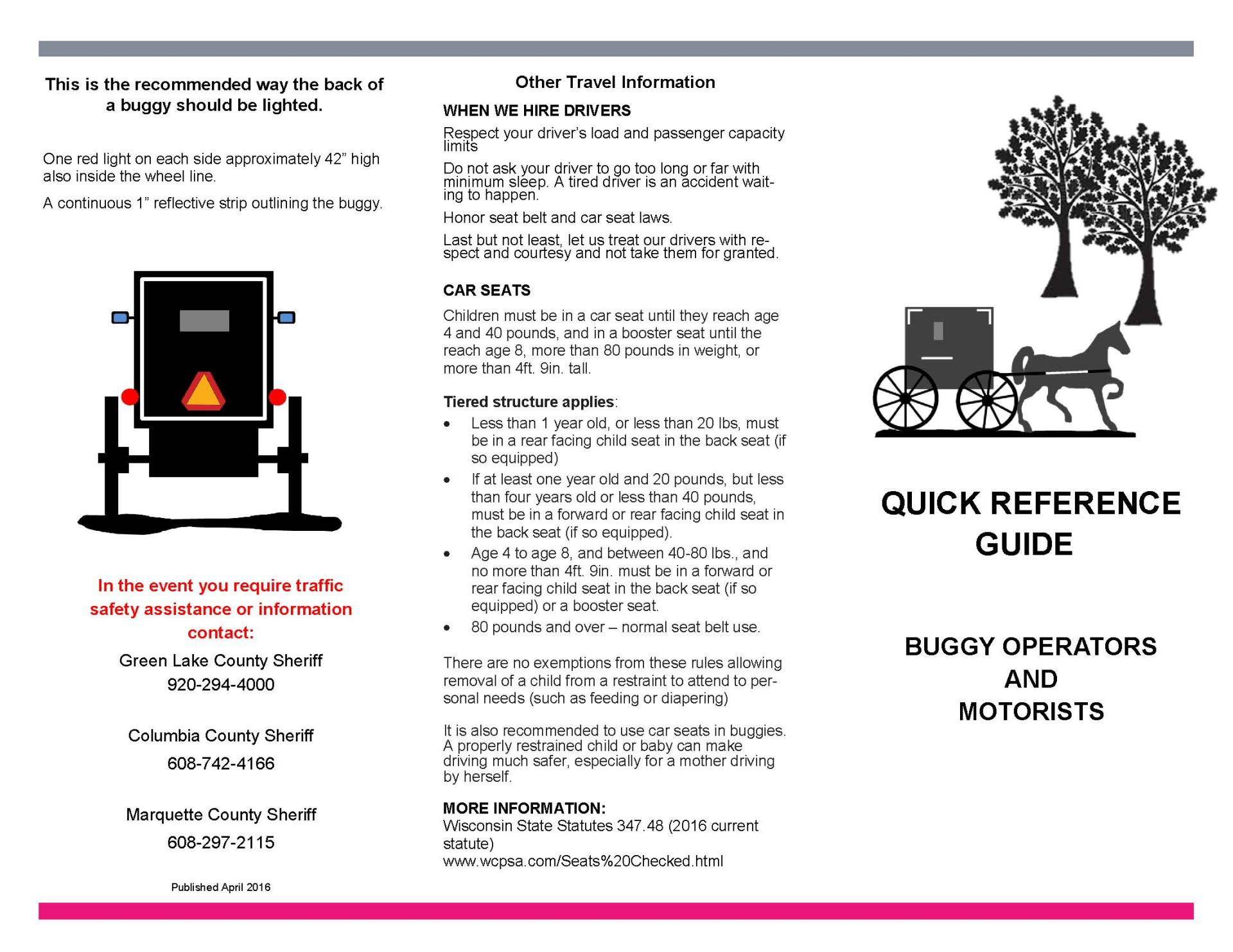 BUGGY DRIVERS MANUAL BROCHURE Page 1