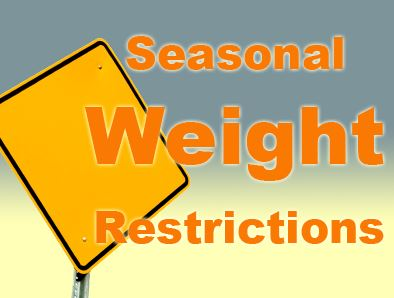 Seasonal Weight Restriction Pic